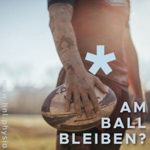 Sportler mit Rugbyball