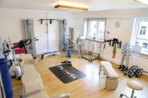 Trainingsraum für Physiotherapie und Krankengymnastik