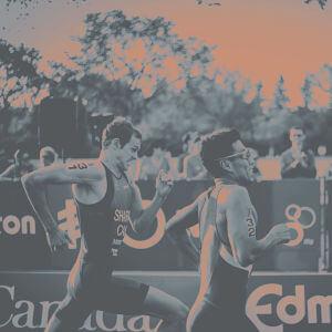 Triathleten beim Laufen