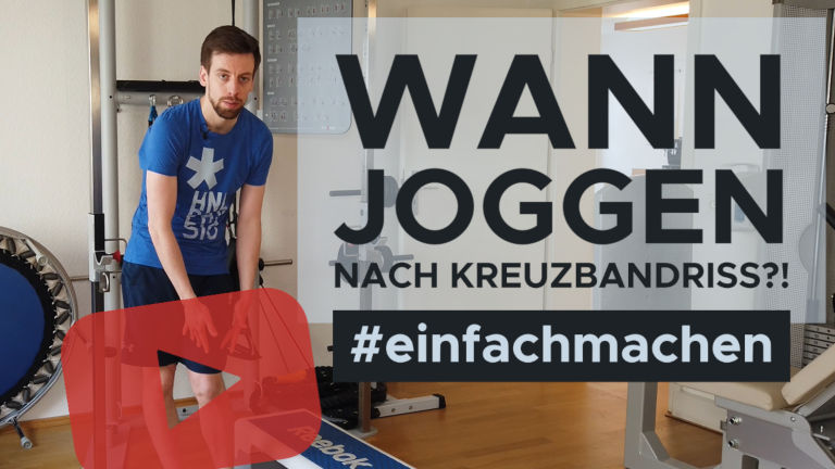 """Thumbnail für das YouTube Video """"Wann Joggen nach Kreuzbandriss"""""""
